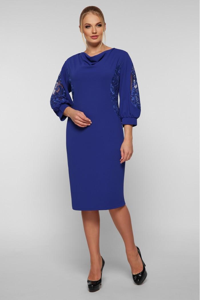 Коктейльное платье Сандра электрик