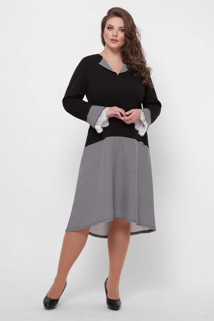 Теплое платье Медея черное