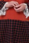 Теплое платье Медея оранж