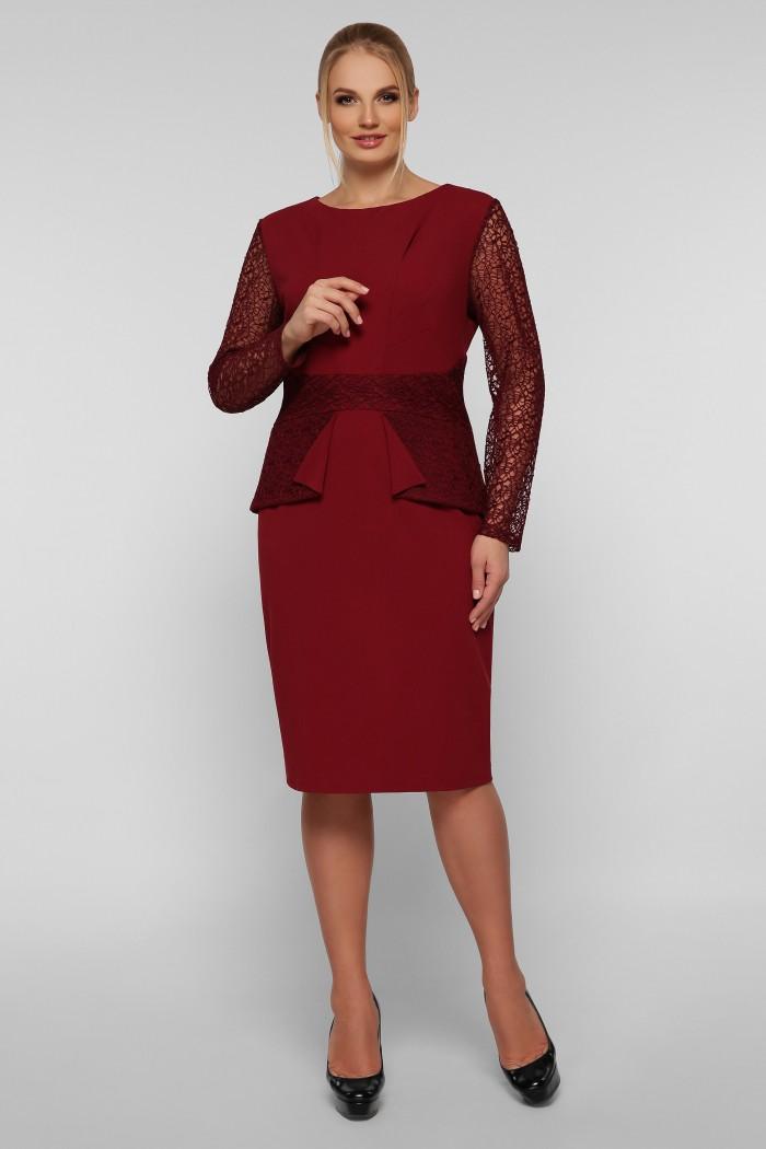Нарядное платье Дженифер бордо