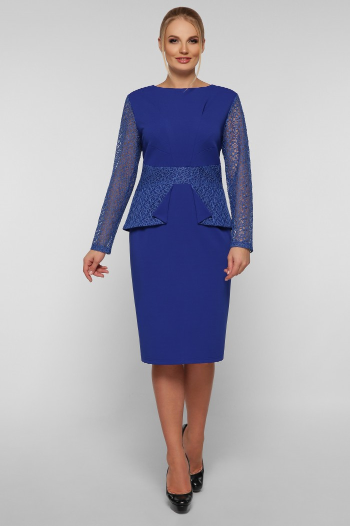 Нарядное платье Дженифер электрик