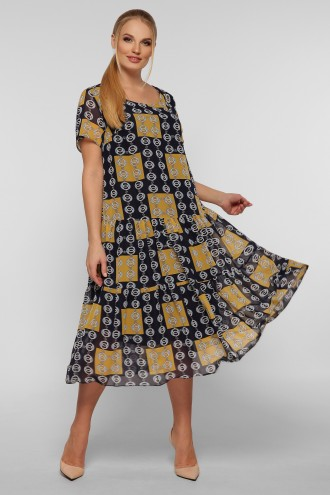 Платье Катаисс горчица