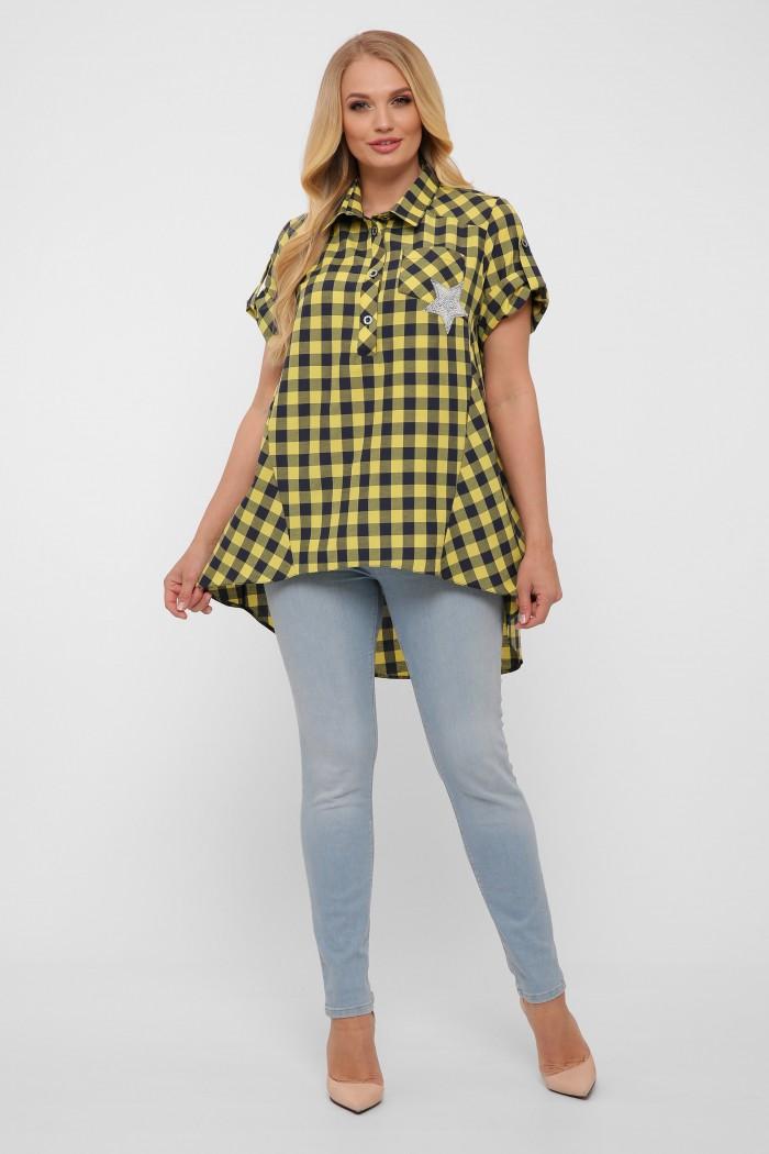 Рубашка Ангелина горчица