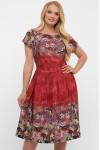 Платье Лорен акварель бордо