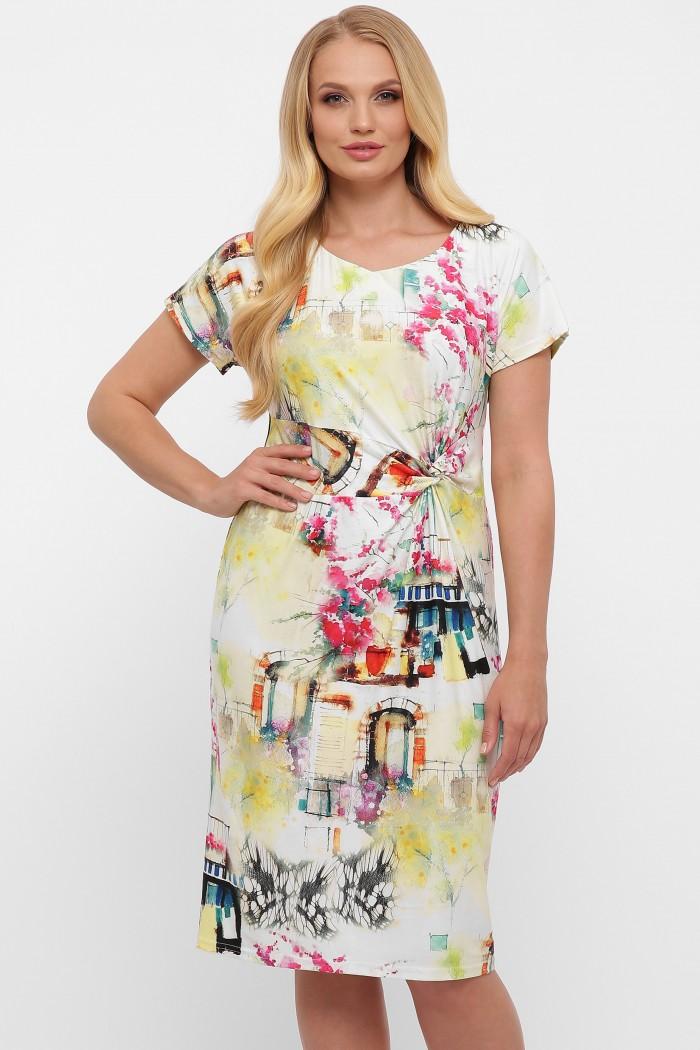 Платье Белла акварель