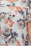 Блуза женская Алина пионы