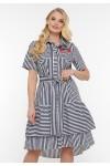 Платье летнее Кэт синяя полоска
