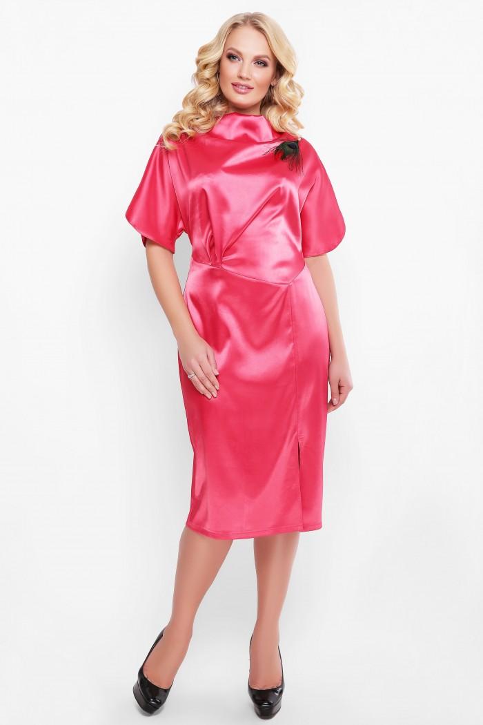 Нарядное платье Элеонора алого цвета