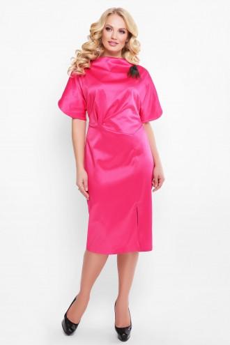 Нарядное платье Элеонора алого арбузного цвета