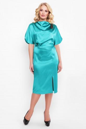 Нарядное платье Элеонора алого изумруд