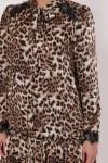 Платье Лея леопард