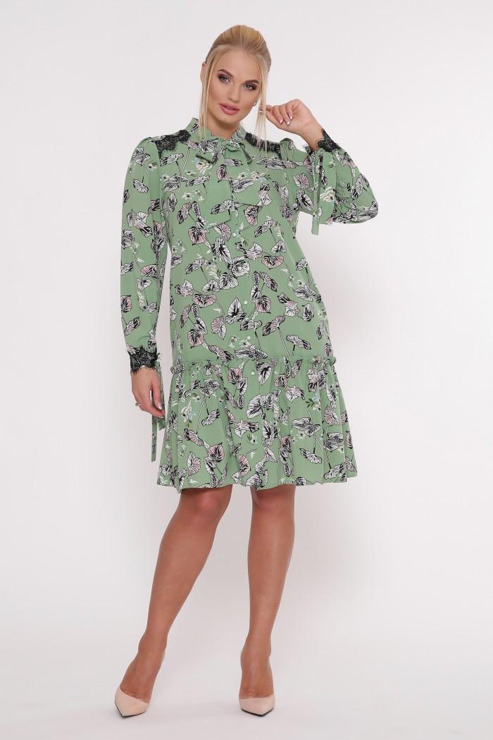 Платье Лея зеленое