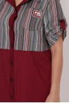 Платье-рубашка Лана бордо