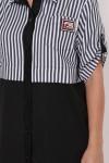 Платье-рубашка Лана черное