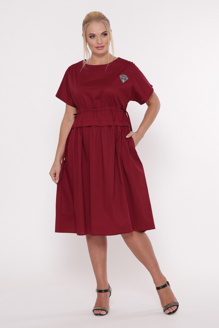 Платье летнее Мелисса бордо