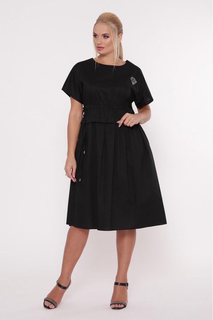 Платье летнее Мелисса черное