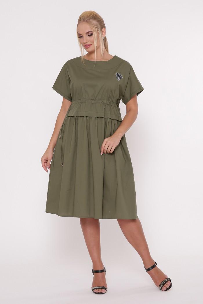 Платье летнее Мелисса хаки