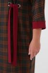 Повседневное платье Амалия бордо клетка