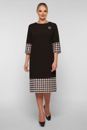 Платье Тереза черное букле