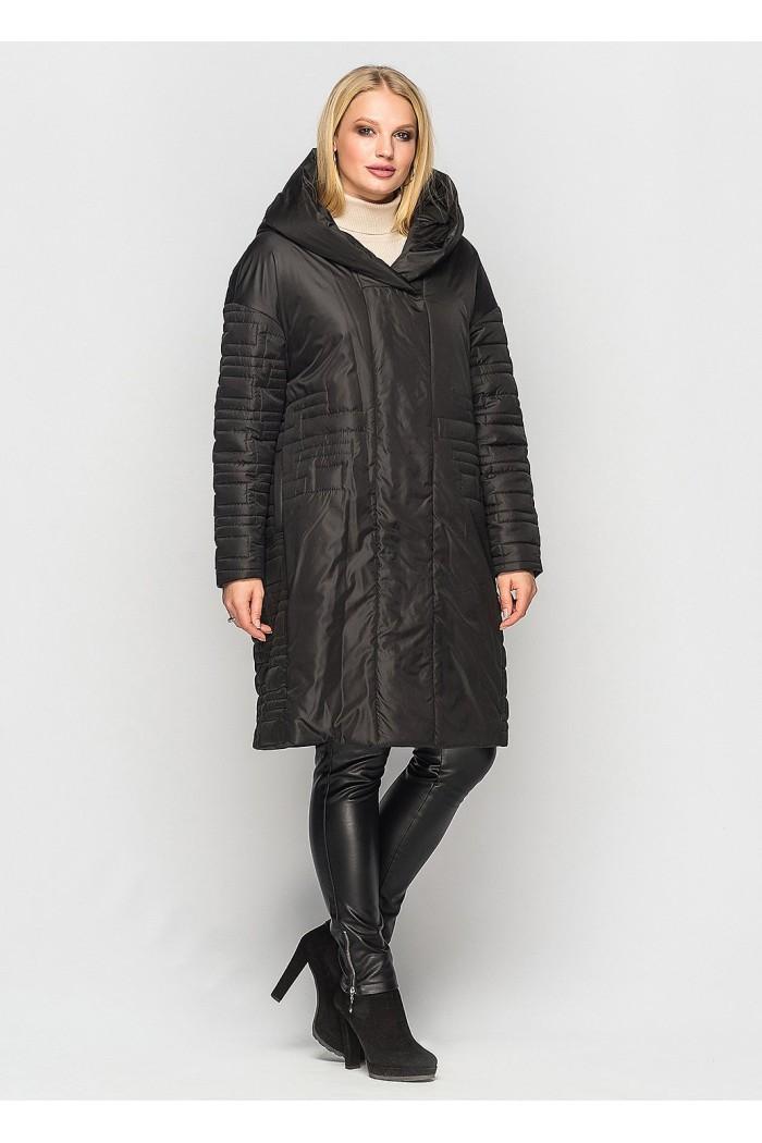 Женское демисезонное пальто Лонда черное