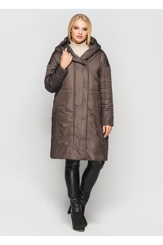 Женское демисезонное пальто Лонда шоколад