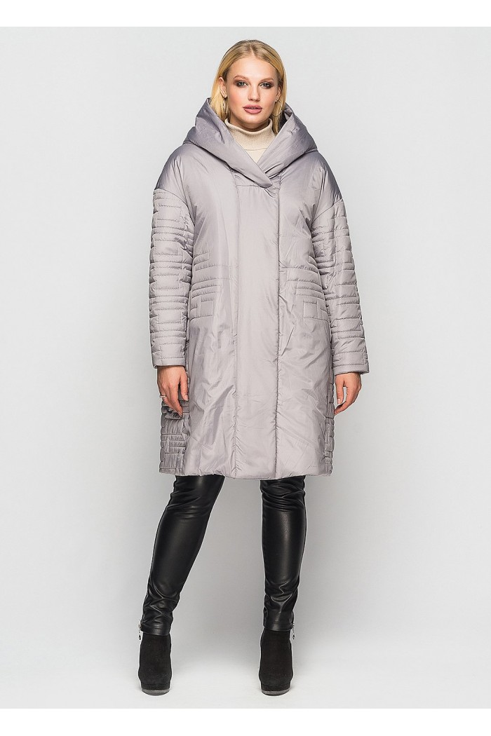 Женское демисезонное пальто Лонда серое