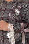 Нарядное платье Майя серое