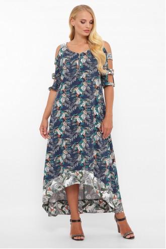 Платье Тропикана синий
