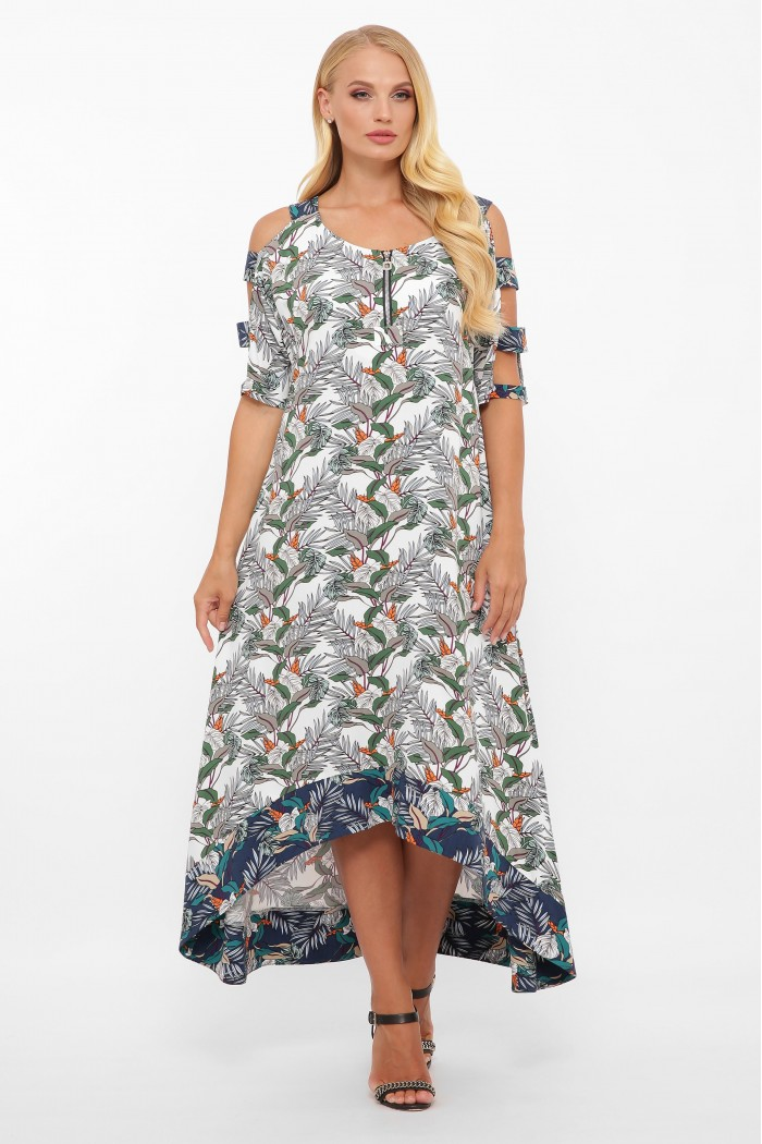Платье Тропикана белое