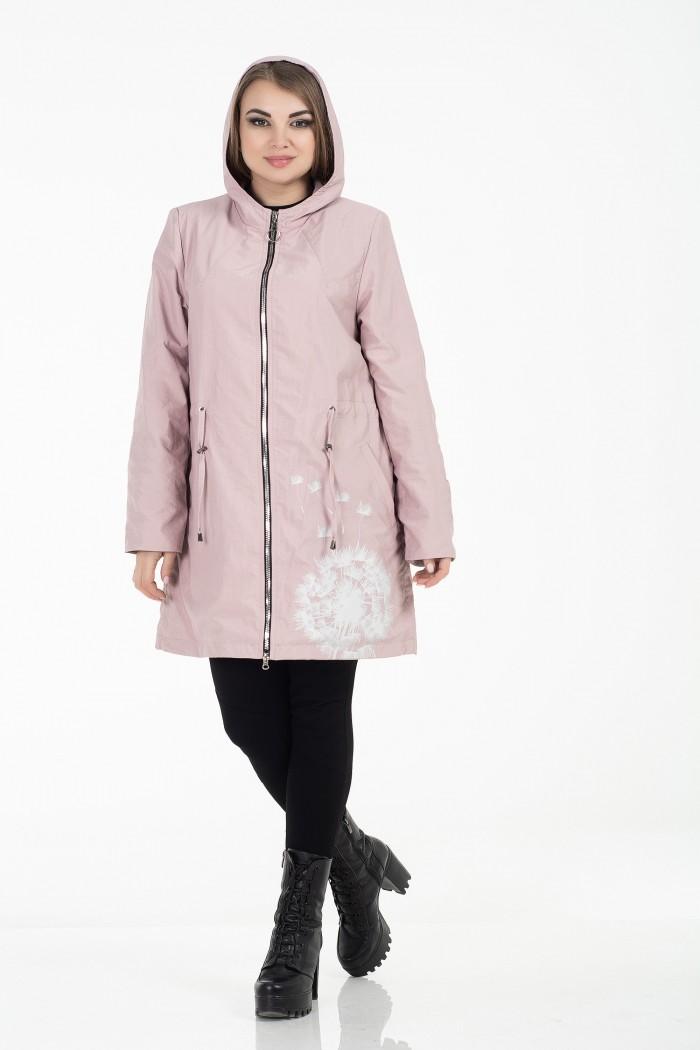 Ветровка женская Одуванчик розовая