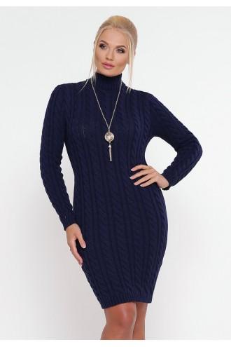 Платье косы синий