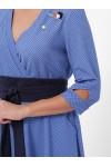 Платье расклешенное Луиза василек