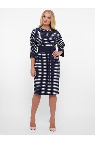 Платье женское Натали синее точка