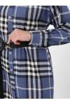 Рубашка удлиненная теплая Карла деним