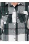 Женская рубашка фланелевая Слава зеленая