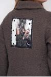 Куртка короткая Энджи экомех капучино