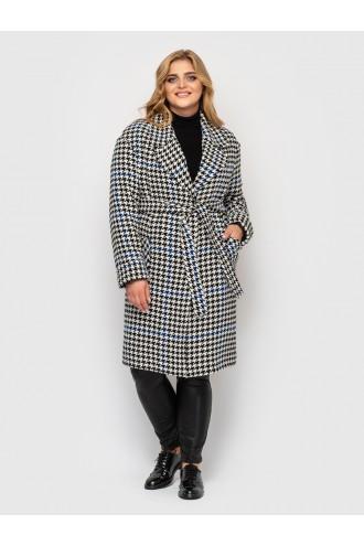Женское пальто Кира гусиная лапка