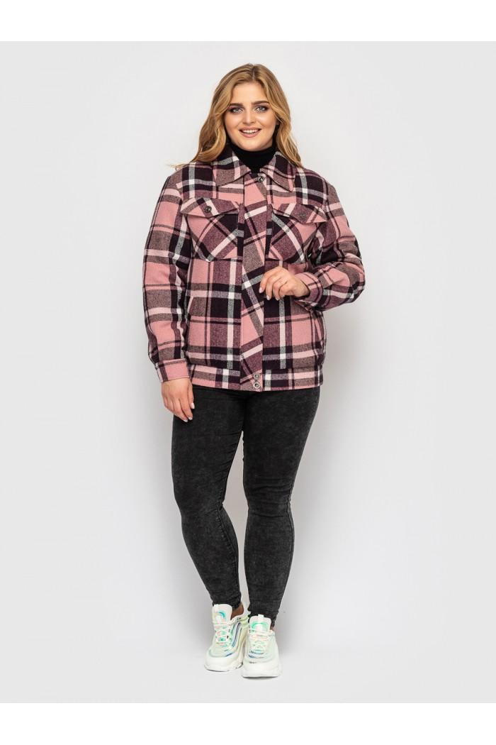 Куртка фланелевая Сандра розовая